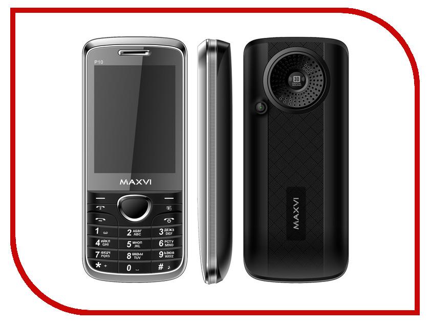 Сотовый телефон Maxvi P10 Black сотовый телефон elari cardphone black