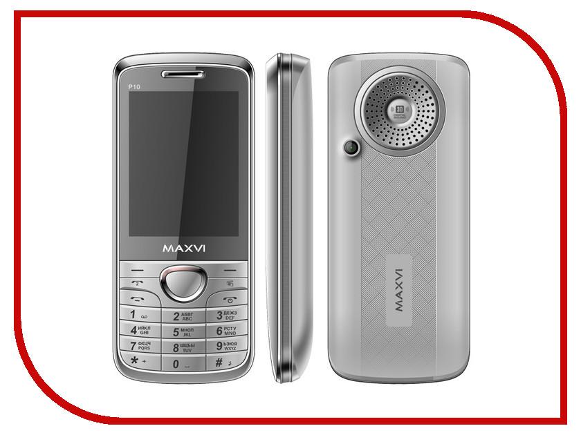 Сотовый телефон Maxvi P10 Silver сотовый телефон maxvi x850 gold