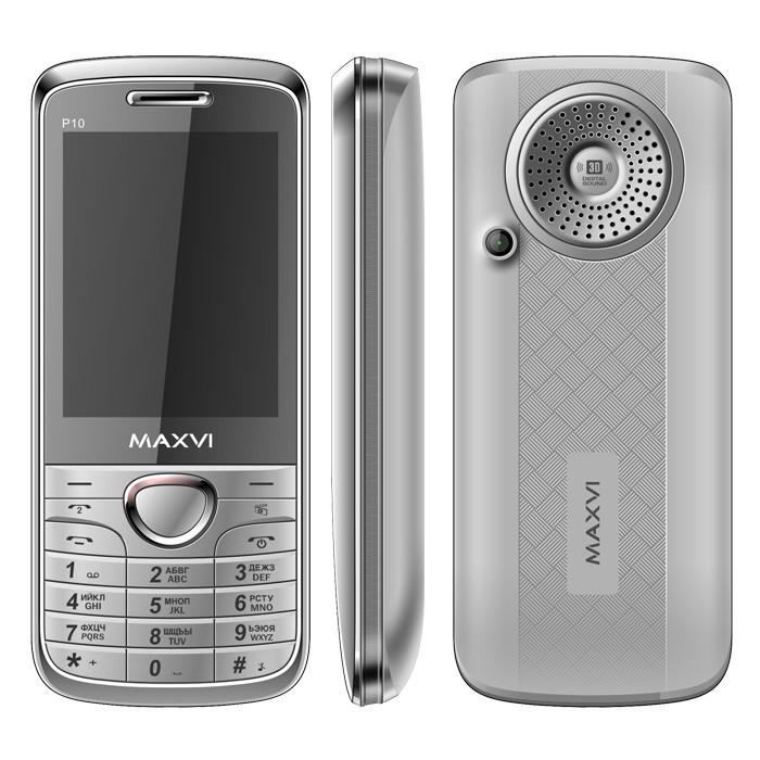 Сотовый телефон Maxvi P10 Silver сотовый телефон maxvi b1 red
