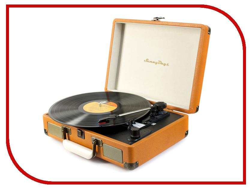 Проигрыватель виниловых дисков SunnyDays SD01 Brown<br>