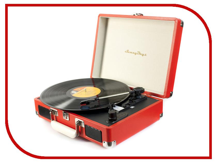 Проигрыватель виниловых дисков SunnyDays SD01 Red<br>