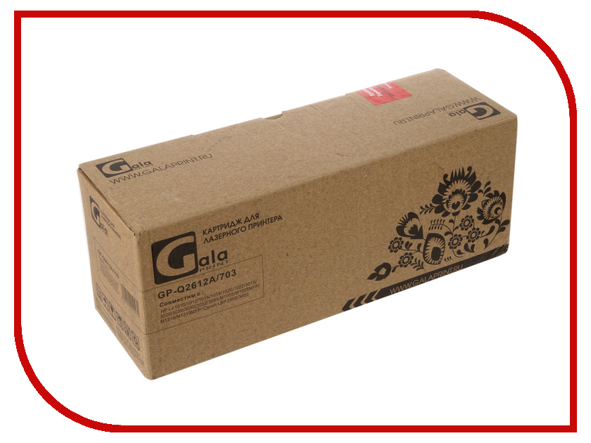 Картридж GalaPrint GP-Q2612A/703 для HP 1010/3015/3050/Canon LBP 2900/3000 2000к<br>