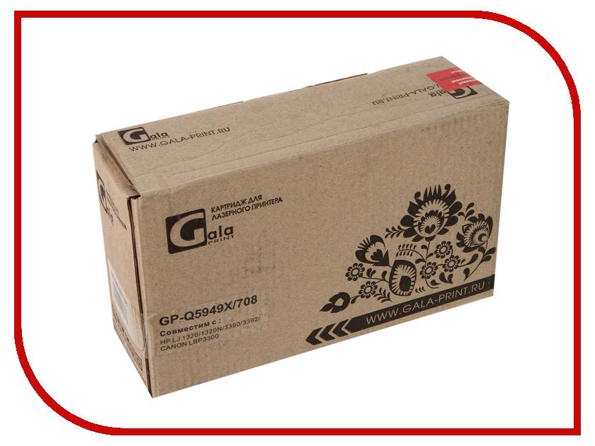 Картридж GalaPrint GP-Q5949X/708 Black для HP LJ 1160/1320/1320N/3390/3392/Canon LBP 3300 6000к<br>