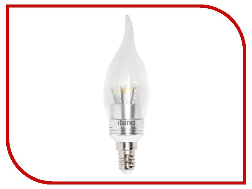 Лампочка Iteria Свеча хрустальная на ветру 6W 2700K E14 804009<br>