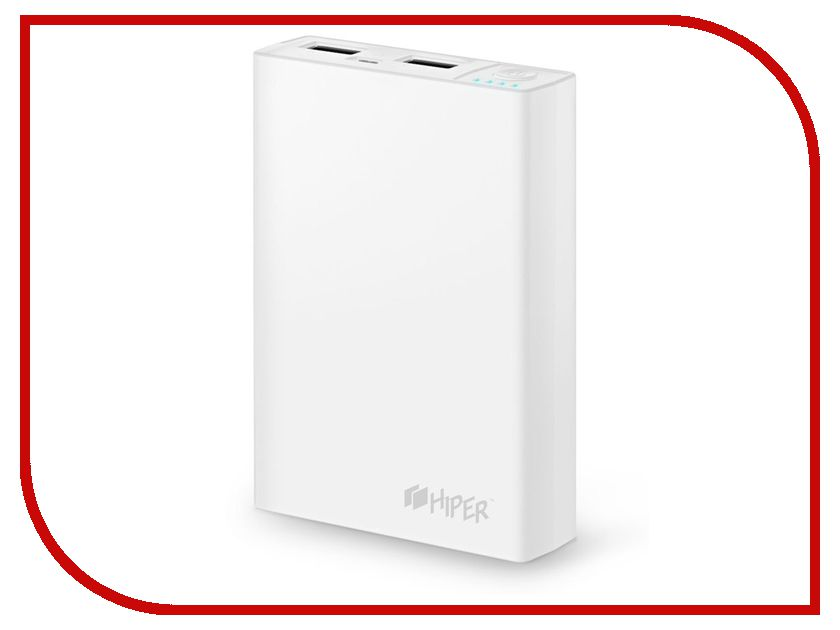 Аккумулятор Hiper Power Bank RP10000 10000mAh White teclast t100ce 10000mah power bank white