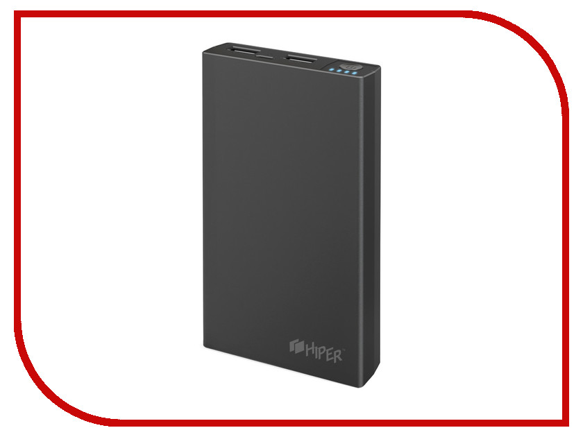 Аккумулятор Hiper Power Bank RP10000 10000mAh Black аккумулятор hiper power bank ep6600 lady cat 6600mah