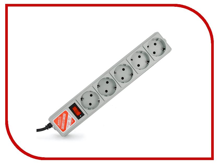 Сетевой фильтр Power Cube 5 Socket UPS 1.9m Grey