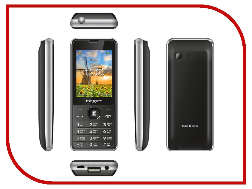 Сотовый телефон teXet TM-D227 Black-Silver сотовый телефон texet tm 513r