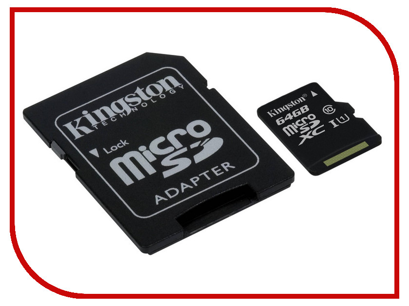 Карта памяти 64Gb - Kingston Micro Secure Digital XC Class 10 UHS-I SDC10G2/64GB с переходником под SD nike romaleos