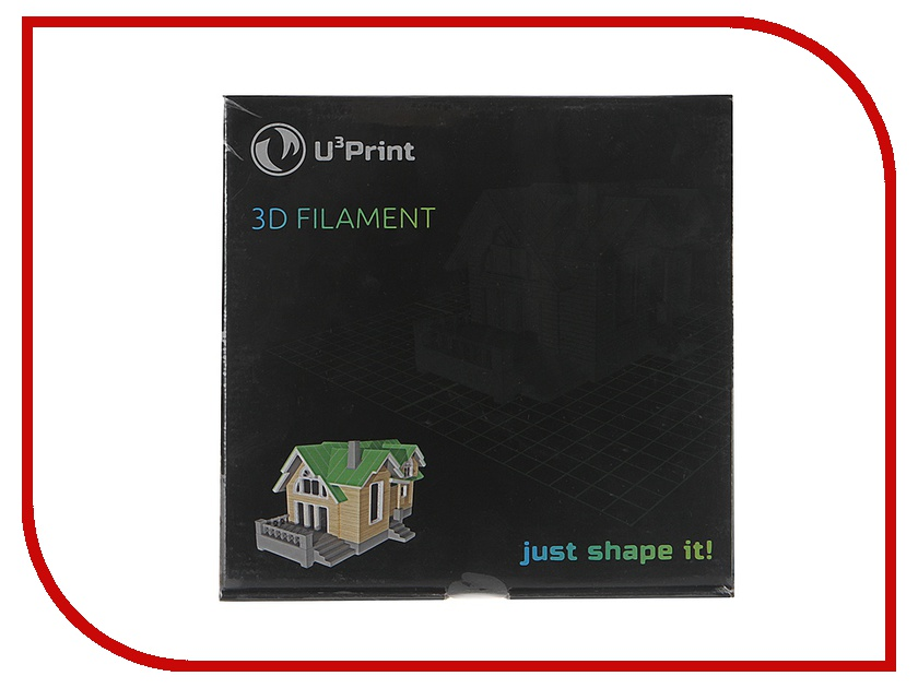 Аксессуар U3Print PLA-пластик 1.75mm 1кг Natural Basic Plus UPPNATBP<br>