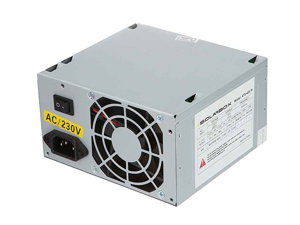 Блок питания SolarBox ATX-450W<br>