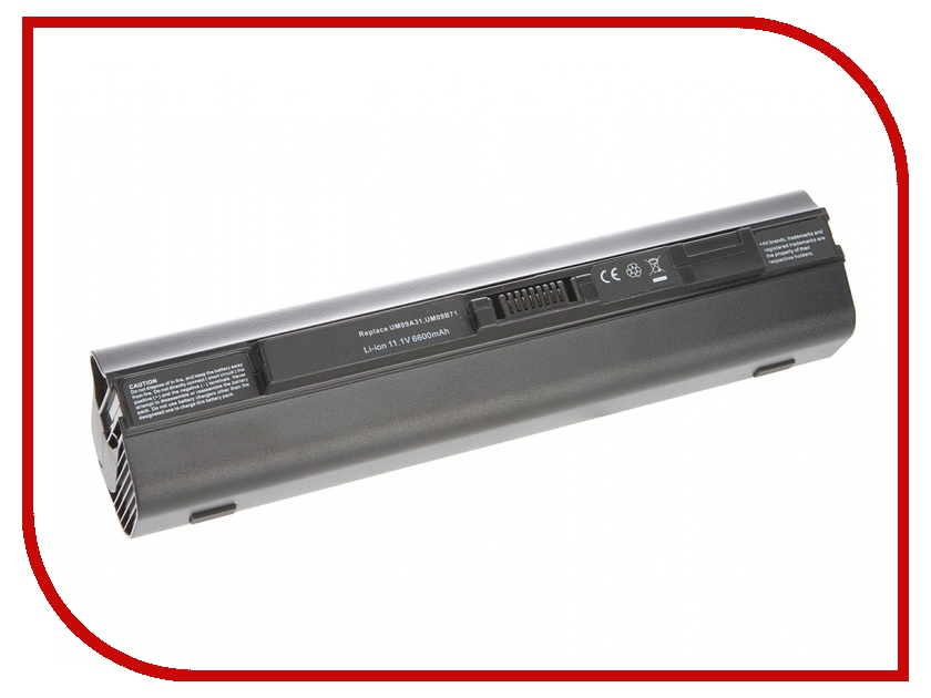 Аккумулятор Tempo LPB-751H 11.1V 6600mAh for Acer Aspire One 531h/751h/AO751h Aspire One/ZG3/ZG8 Series<br>