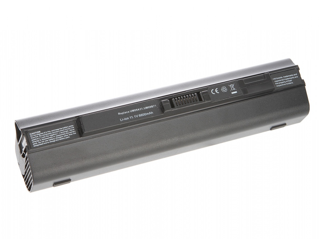 Аккумулятор Tempo LPB-751H 11.1V 6600mAh for Acer Aspire One 531h/751h/AO751h Aspire One/ZG3/ZG8 Series