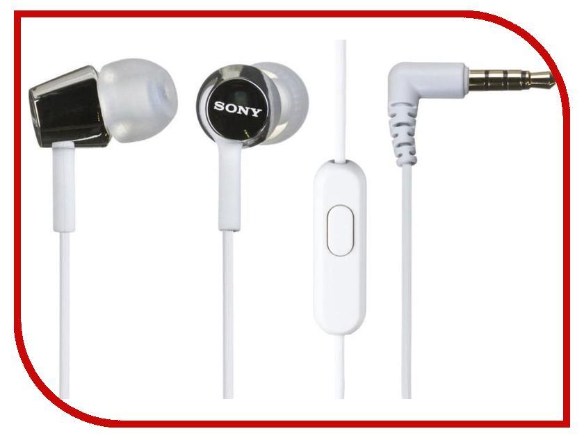 Гарнитура Sony MDR-EX150AP White<br>