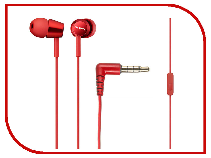 Гарнитура Sony MDR-EX150AP Red
