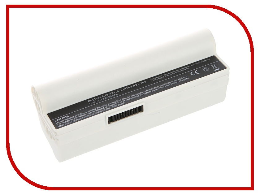 Аккумулятор Tempo LPB-701H 7.4V 8800mAh White for ASUS Eee PC 700/701/900 Series<br>