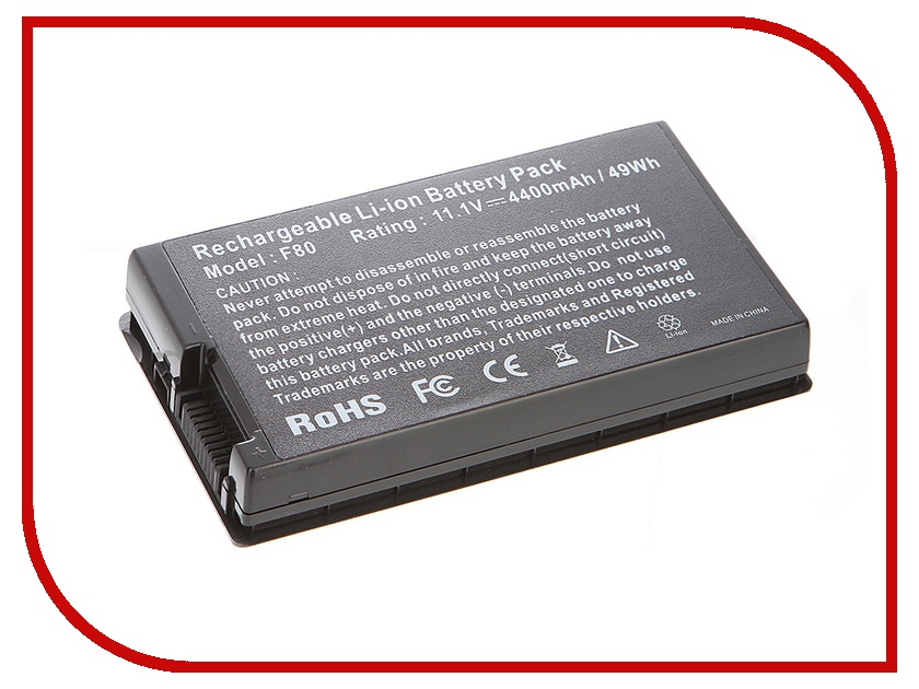 Аккумулятор Tempo LPB-F80 10.8V 4400mAh for ASUS F50/F80/F81/F83/X61/X80/X82/X85 Pro63D Series