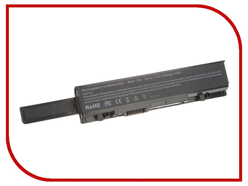 Аккумулятор Tempo LPB-1535H 11.1V 6600mAh for Dell Studio 1535/1536/1537/1555/1557/1558 Series<br>