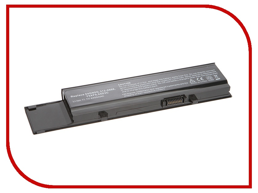 Аккумулятор Tempo LPB-3400 04GN0G 11.1V 4400mAh for Dell Vostro 3400/3500/3700 Series<br>