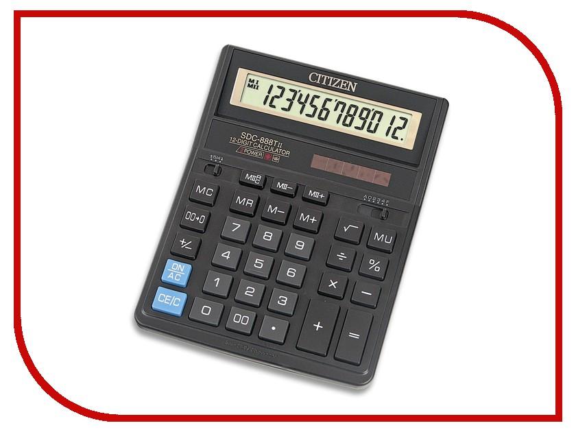 Калькулятор Citizen SDC-888TII - двойное питание калькулятор citizen sdc 554s 667496