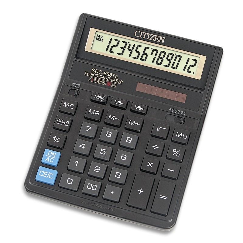 Калькулятор Citizen SDC-888TII - двойное питание