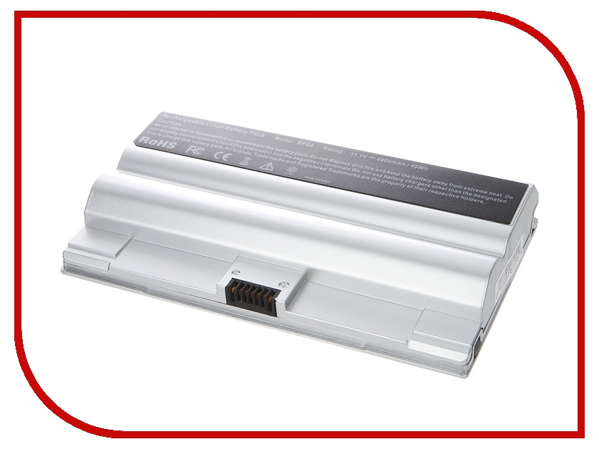 Аккумулятор Tempo LPB-BPS8-NOCD 11.1V 4400mAh Silver for Sony VAIO VGN-FZ Series