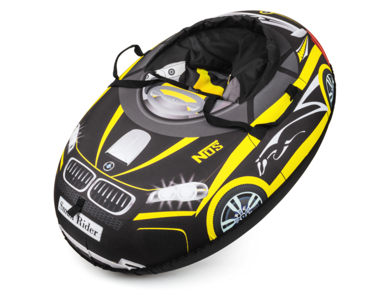 Тюбинг Small Rider Snow Cars BM Black-Yellow<br>
