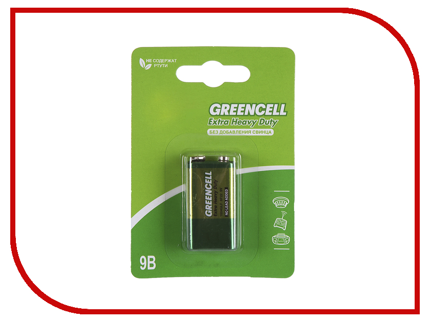Батарейка КРОНА GP Greencell 1604G (6F22)-BC1 gp 1604a bc1