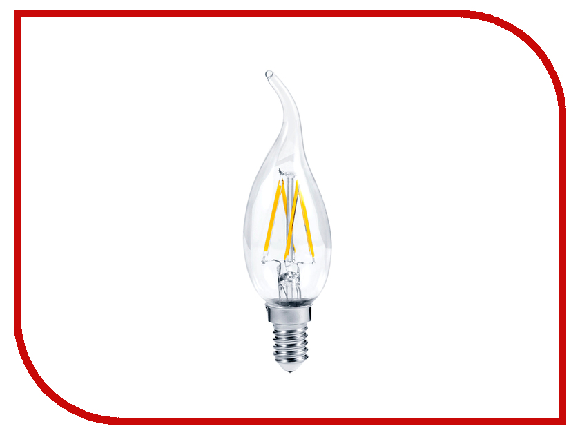 Лампочка ASD LED Свеча на ветру Premium 5W 3000K 160-260V E14 4690612003276<br>