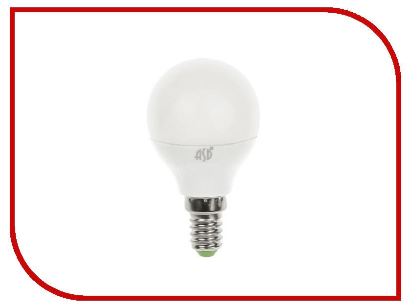 Лампочка ASD LED Шар Standard E14 3.5W 3000K 160-260V 4690612000367 лампочка asd led шар standard 3 5w 3000k 160 260v e27 4690612000374