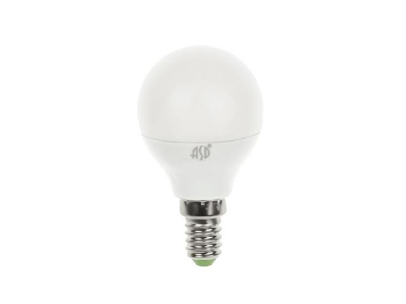 Лампочка ASD LED Шар Standard E14 3.5W 160-260V 3000K 320Lm 4690612000367 лампочка asd led jcdr standard 5 5w 3000k 160 260v gu5 3 4690612002262