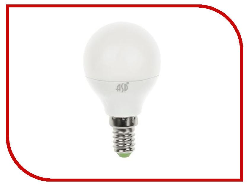 Лампочка ASD LED Шар Standard 5W 3000K 160-260V E14 4690612002125 лампочка asd led свеча на ветру standard 5w 3000k 160 260v e27 4690612004532