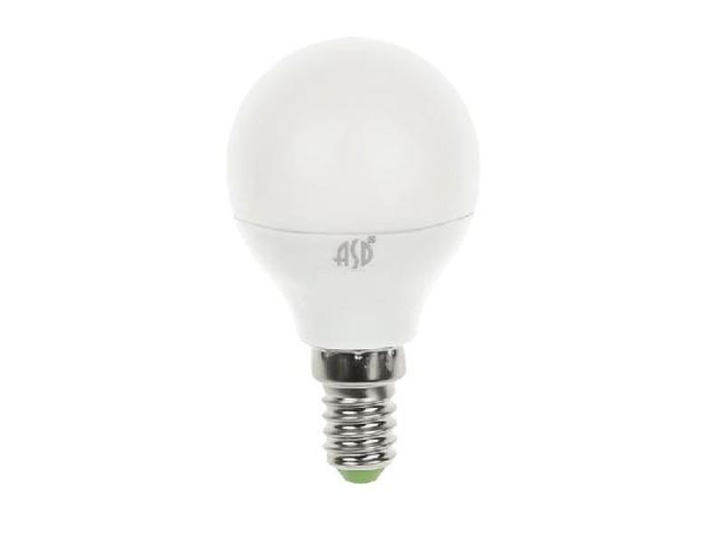 Лампочка ASD LED Шар Standard E14 5W 160-260V 3000K 450Lm 4690612002125 лампочка экономка свеча e14 5w 160 260v 450lm 2700k ecoledfl5wcne1427