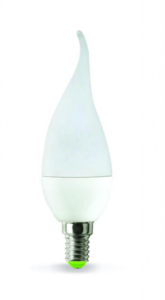 Лампочка ASD LED Свеча на ветру Standard E14 3.5W 160-260V 4000K 320Lm 4690612004747 лампочка экономка свеча e14 5w 160 260v 450lm 2700k ecoledfl5wcne1427