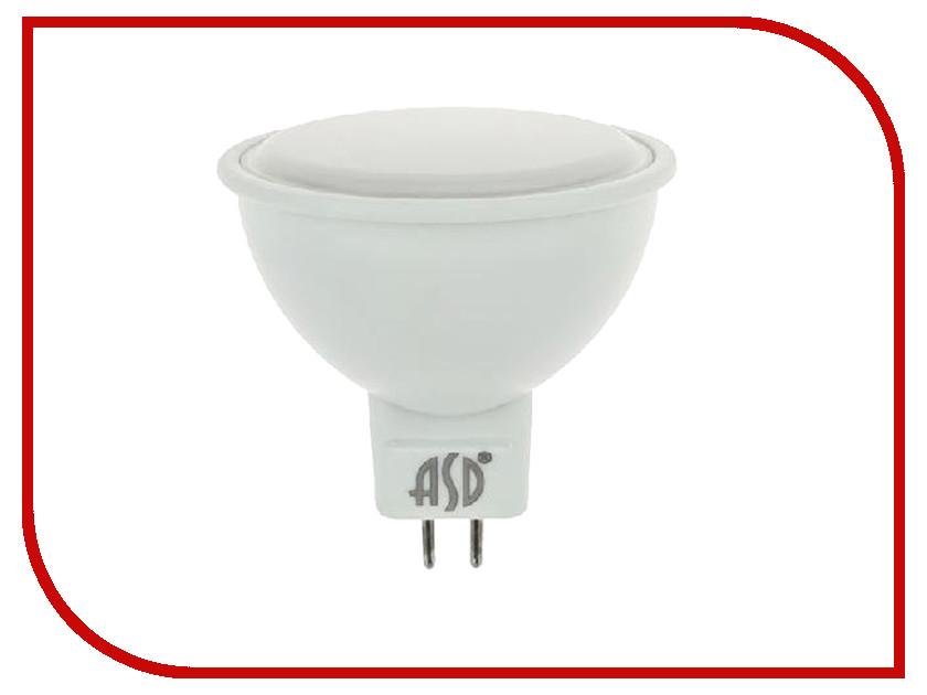 Лампочка ASD LED-JCDR-Standard 5.5W 3000K 160-260V GU5.3 4690612002262 светильник asd nrlp eco 1445 14w 160 260v 4000к white 4690612004365