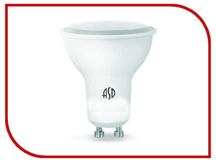Лампочка ASD LED-JCDR-Standard 3W 4000K 160-260V GU10 4690612004822 светильник asd nrlp eco 1445 14w 160 260v 4000к white 4690612004365
