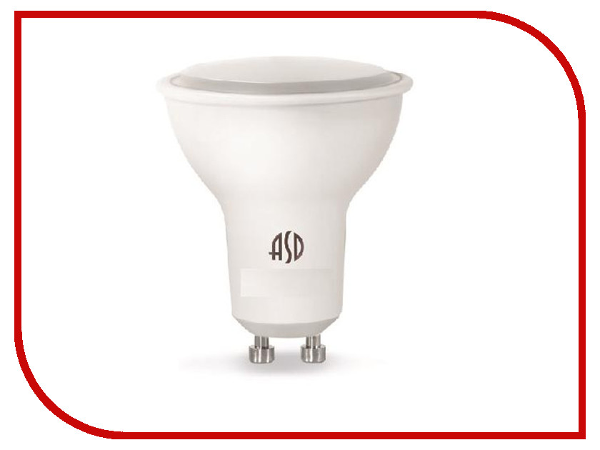 Лампочка ASD LED-JCDR-Standard GU10 7.5W 3000K 160-260V 4690612002361 лампочка asd led jcdr standard gu5 3 5 5w 4000к 160 260v 4690612001432