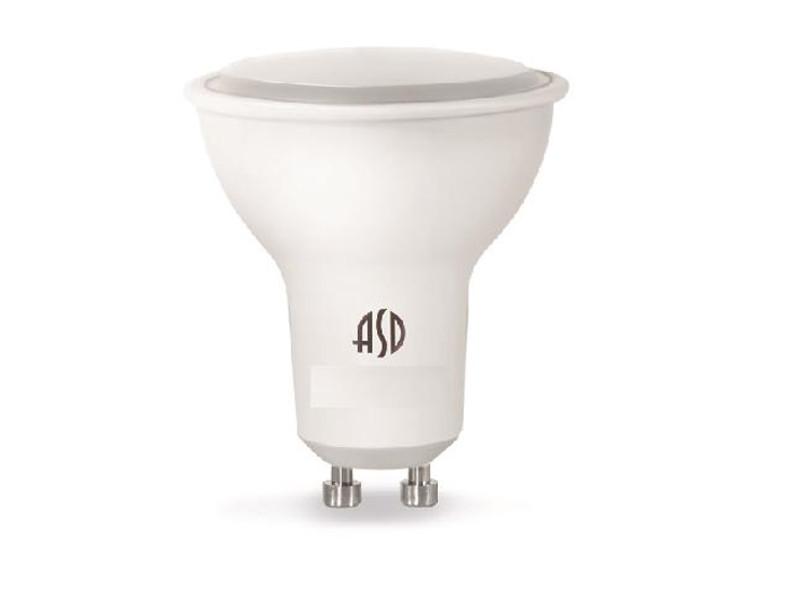 Лампочка ASD LED-JCDR-Standard GU10 7.5W 160-260V 3000K 675Lm 4690612002361 лампочка asd led jcdr standard 5 5w 3000k 160 260v gu5 3 4690612002262