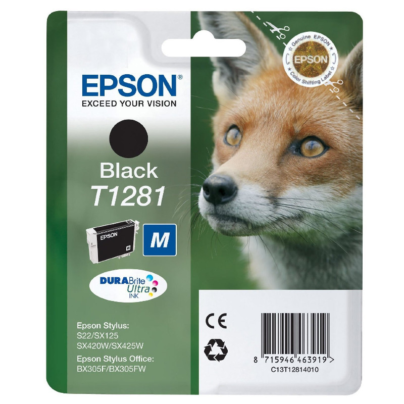 Аксессуар Epson C13T12824021 Cyan для Stylus S22/SX130/SX230/SX420W/SX425W/BX305F Security version
