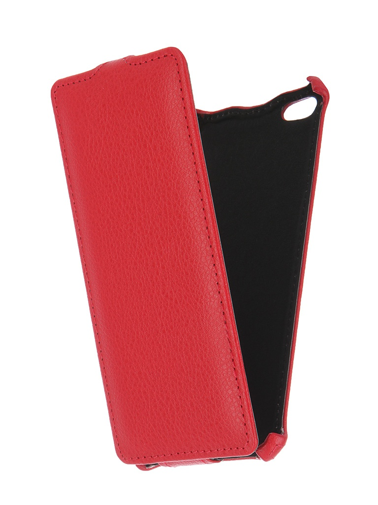 Аксессуар Чехол-флип Micromax Q450 Canvas Silver 5 Gecko Red GG-F-MICQ450-RED