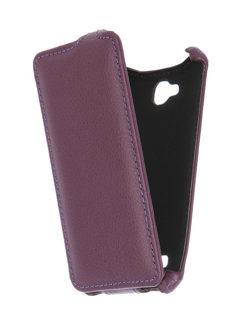 Аксессуар Чехол-флип Micromax Q324 Bolt Gecko Purple GG-F-MICQ324-VIO<br>