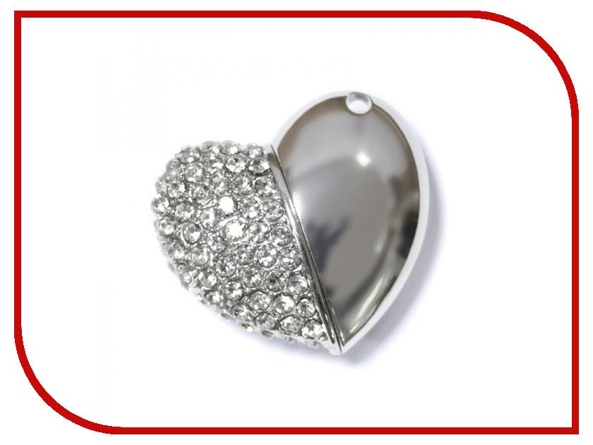 USB Flash Drive 32Gb - Iconik Сердце Silver Swarovski MTFC-HEART-32GB<br>