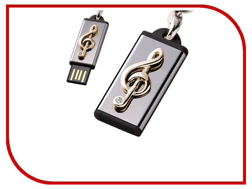 USB Flash Drive 8Gb - Iconik Моя мелодия Golden Swarovski MTFC-MELODY-8GB