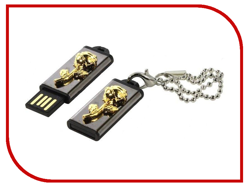 USB Flash Drive 8Gb - Iconik Роза Golden MTF-ROSE-8GB
