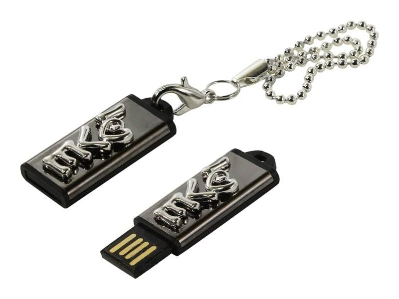 USB Flash Drive 8Gb - Iconik Любовь Silver MTF-LOVES-8GB<br>