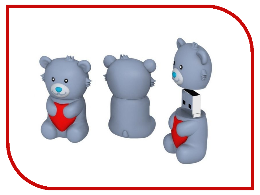 USB Flash Drive 8Gb - Iconik Мишка Тедди RB-BEARG-8GB<br>