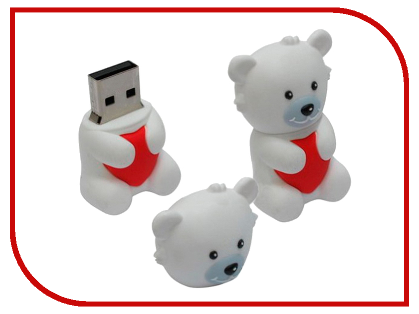 USB Flash Drive 8Gb - Iconik Мишка белый Умка RB-BEARW-8GB<br>