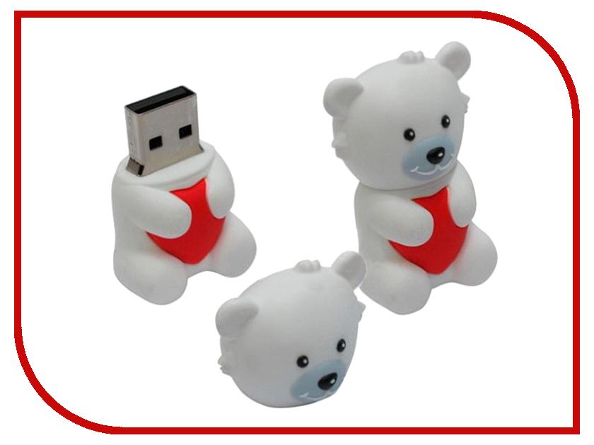 USB Flash Drive 16Gb - Iconik Мишка белый Умка RB-BEARW-16GB<br>