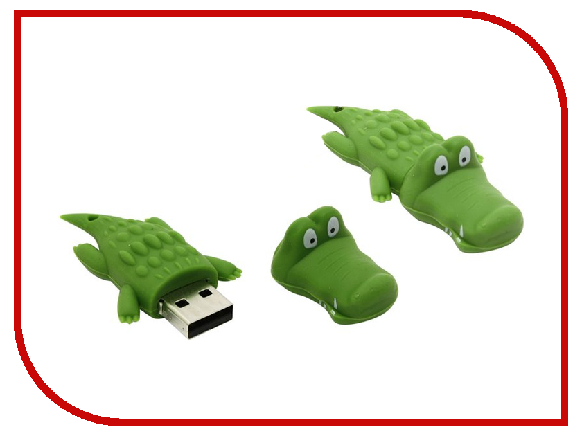 USB Flash Drive 8Gb - Iconik Крокодил RB-CROC-8GB<br>