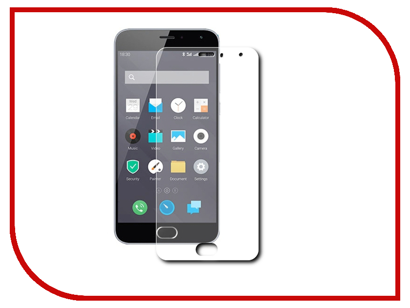 Аксессуар Защитная пленка Meizu MX5 Ainy глянцевая аксессуар защитная пленка ainy для iphone 6 передняя задняя глянцевая